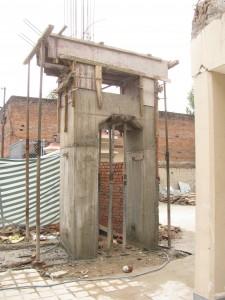 rebuilding IBA's entrance gate